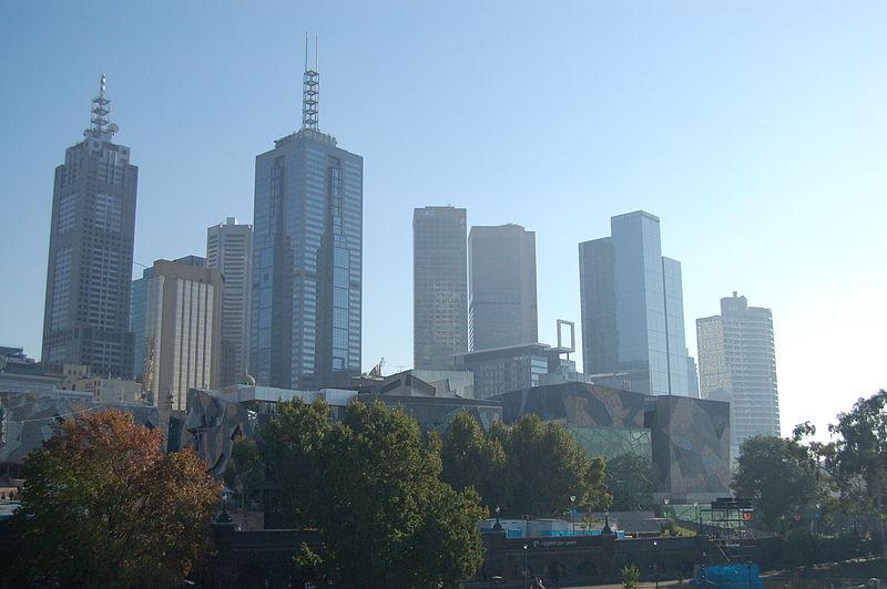 File:Melbourne City Misty Skyline Federation Square.jpg