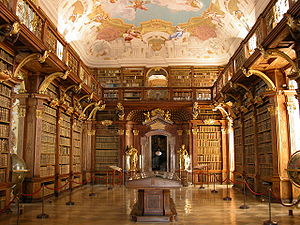 Library - Library at Melk Abbey in Austria