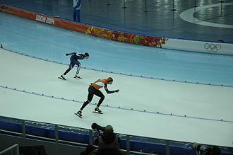 Speed skating at the 2014 Winter Olympics – Men's 10,000 metres - Silver medalist Sven Kramer