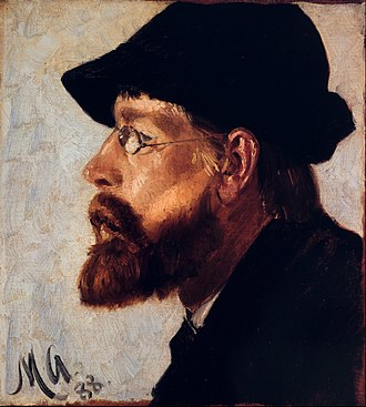 Nils Hansteen - Nils Hansteen. Portrait painted by Michael Ancher, 1888. From the portrait frieze at Skagens Museum.