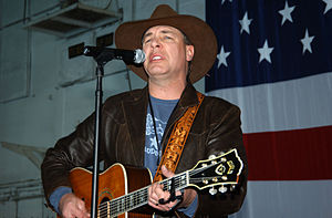 Michael Peterson (singer) - Michael Peterson performing aboard USS Theodore Roosevelt, December 2005