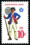 Military Uniforms Continental Soldier 10c 1975 issue U.S. stamp.jpg