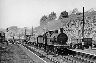 Millers Dale railway station - Up local goods at Miller's Dale Station in 1957
