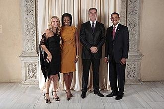 Milo Đukanović - Đukanović and his wife with Obamas, 23 September 2009