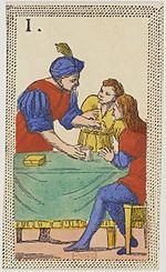 Minchiate card deck - Florence - 1860-1890 - Trumps - 01 - Papa uno.jpg