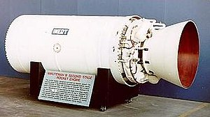 Multistage rocket - The second stage of a Minuteman III rocket