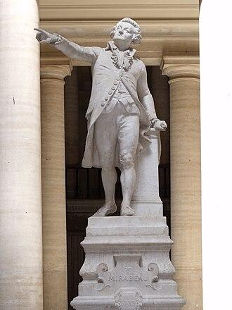 Honoré Gabriel Riqueti, comte de Mirabeau - Statue of Honoré de Mirabeau. Palais de justice d'Aix-en-Provence