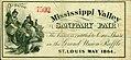 Mississippi Valley Sanitary Fair Grand Union raffle ticket, May 1864.jpg