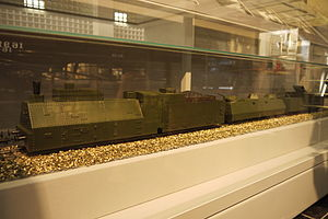 Russian locomotive class O - Image: Model of Armoured train