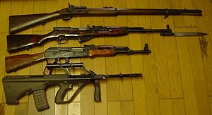 Compare a Rifles from 1860's to 1980's.