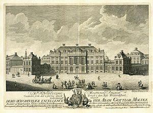 Amalienborg - Moltke's Palace in 1756