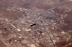 Air photo of part of Monahans facing northeast in 2012