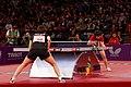 Mondial Ping -Women's Singles - Quarterfinal - Ding Ning-Ri Myong Sun - 05.jpg