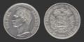 Moneda Venezolana de 5 Bolivares de 1919.png