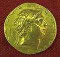 Monetiere di fi, moneta ellenistica aurea di demetrio I, 162-150 ac..JPG