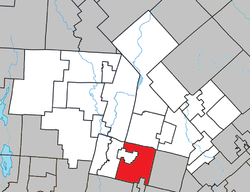 Location within Les Laurentides RCM