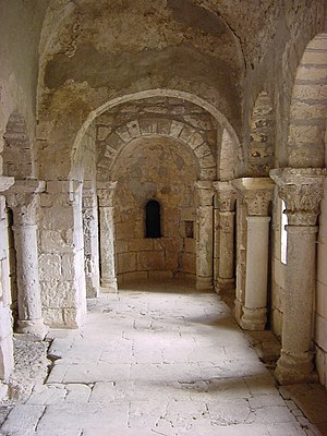 Montmajour Abbey - Nave of St. Peter's Chapel (11th century)