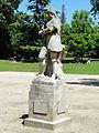 Montmorency (95), parc de la Mairie, statue.JPG