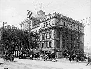 Palais de justice (Montreal) - Édifice Lucien-Saulnier, 1901.