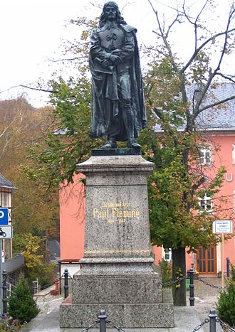Paul Fleming (poet) - Statue of Fleming at Hartenstein