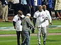 Mookie Wilson, Darryl Strawberry and Cleon Jones Coming Out to Throw Ceremonial First Pitches Before Game 5 of the World Series.jpg