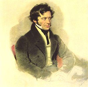 Ritratto di Franz Grillparzer, di Moritz Michael Daffinger, 1827