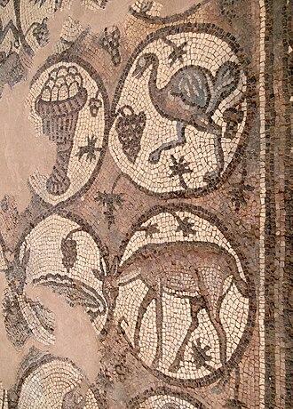 Arabian ostrich - Depiction from Petra, Jordan
