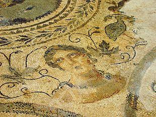 Mosaico di epoca romana nel parco archeologico in loc. S.Aloe