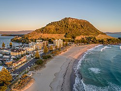 Mount Maunganui Sunrise Aerial View