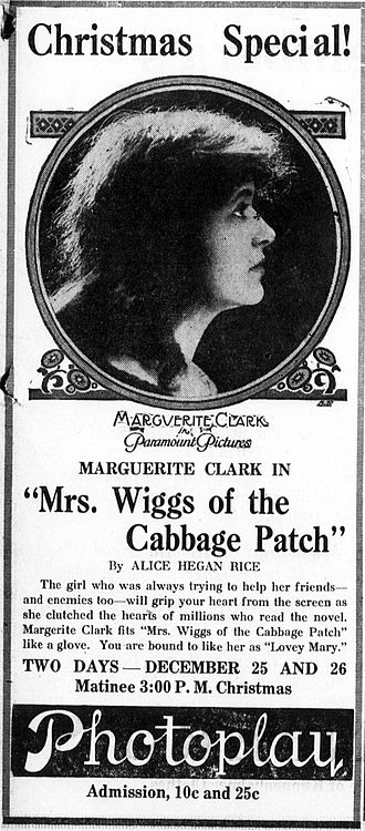 Mrs. Wiggs of the Cabbage Patch (1919 film) - Image: Mrs Wiggs of the Cabbage Patch 1919 newspaperad