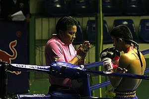 Muay Thai - Praying before the match