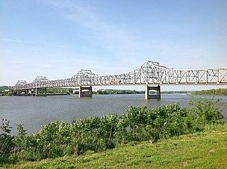 Murray Baker Bridge - Murray Baker Bridge from riverside in East Peoria.
