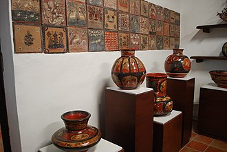 Ceramics of Jalisco - Jars and tiles on display at the Museo Regional de la Cerámica