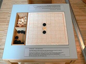 Ludus latrunculorum - Image: Museum Quintana Räuberspiel