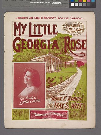 "Lottie Gilson - Photograph of Lottie Gilson on ""My little Georgia Rose"" cover"