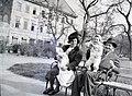 Négyen a padon 1946 Fortepan 105040.jpg