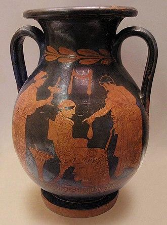 Polygnotos (vase painter) - Image: NAMA Courtisane & client