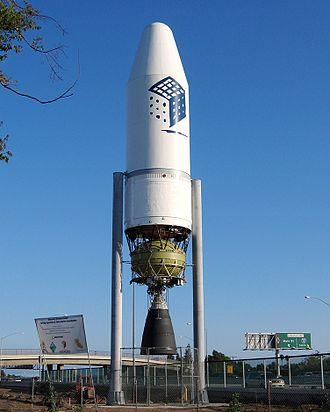 Discovery Cube Orange County - Image: NASA's Delta III rocket reproduction