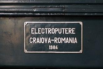 Electroputere - Image: ND3 0001 manufacturer info board