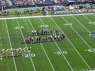 2008 Seattle Seahawks season - Seahawks alumni before the home opener