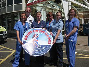 Dorset County Hospital NHS Foundation Trust - Dorset county hospital staff celebrating the 2012 Olympics