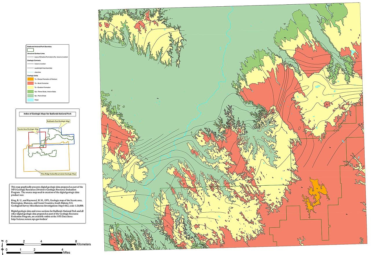 FileNPS badlandsgeologicmapwestjpg Wikimedia Commons