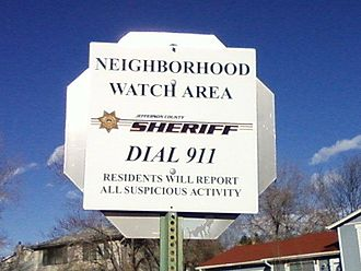 Neighbourhood - A neighbourhood watch sign in Jefferson County, Colorado