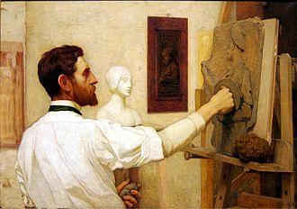 Kenyon Cox - Augustus Saint-Gaudens at the Met in New York, 1908