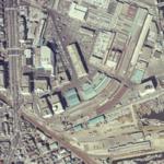 Nagoyashijō Station-Aerial photography 1977.png