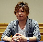 Naoki Yoshida at the press conference of Final Fantasy 14 in South Korea, Oct 14
