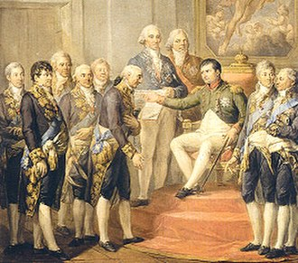 Duchy of Warsaw - Napoleon conferring the Constitution in 1807