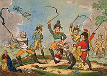 Andere Mächte spielen mit Napoleon (Karikatur 1814) (Quelle: Wikimedia)