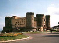 Naples, Castel Nuovo (Maschio Angioino) view f...