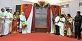 Narendra Modi unveils the foundation stone of Shri Venkateswara Mobile & Electronics Manufacturing Hub, in Tirupati, Andhra Pradesh. The Governor of Andhra Pradesh and Telangana, Shri E.S.L. Narasimhan.jpg